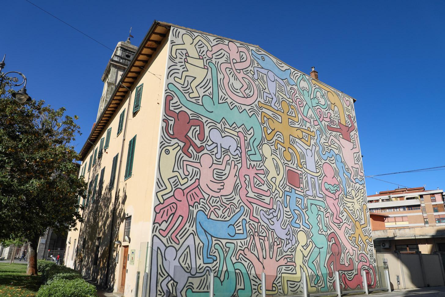 Muurschildering door Keith Haring