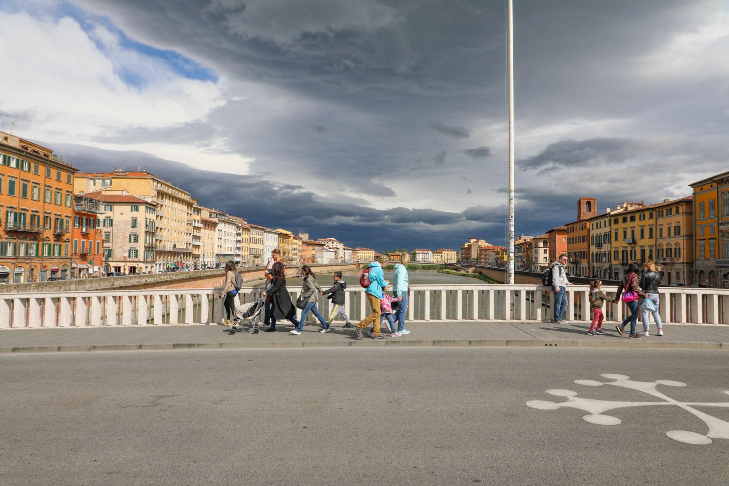 het weer in Pisa